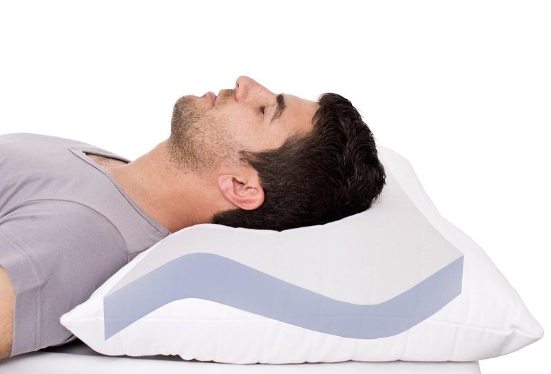 anti schnarch kissen orthop disches nackenst tzkissen kopfkissen 40x80cm ebay. Black Bedroom Furniture Sets. Home Design Ideas